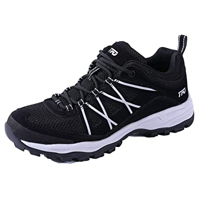 TFO Hiking Shoes Men Outdoor Lightweight Comfort Breathable Non Slip Sneaker Black, US 8 | Hiking Shoes