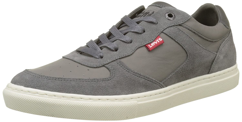 Levi'S Perris Oxford, Zapatillas para Hombre, Gris (Noir Regular Grey), 45 EU