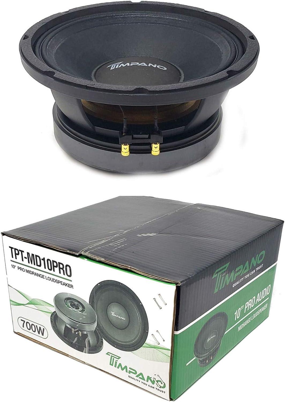 """Timpano TPT-MD10PRO 10"""" mid Range Pro Audio Loud Speaker 700 Watts 8 ohm"""