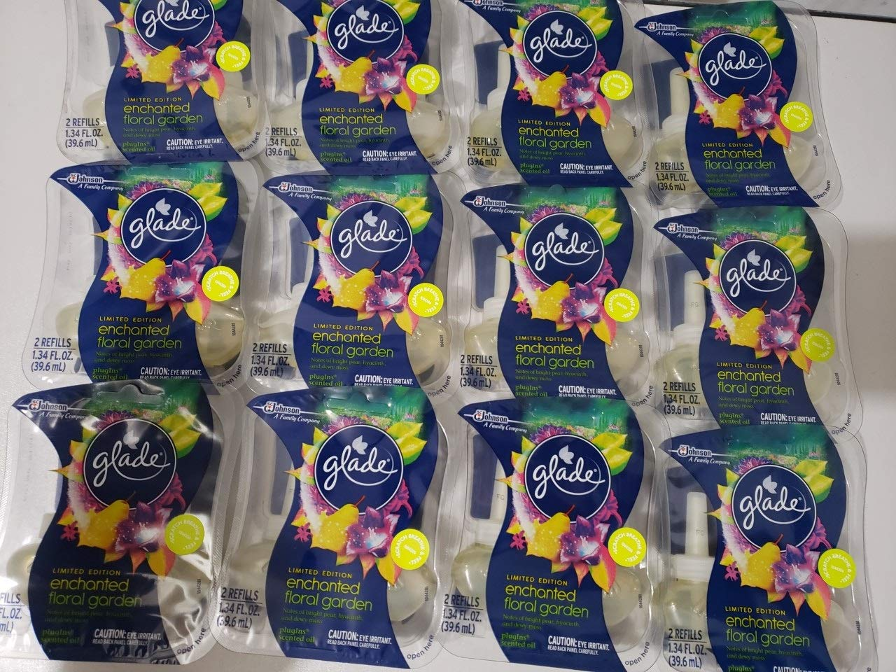 24 Glade Enchanted Floral Garden Scented Oil Refills Plugins Pear Hyacinth Moss
