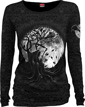 Killing Baggy Longsleeve Scroll Spiral Impression Moon T Top Direct OwknP80