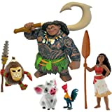Bullyland 13185 Vaiana - 13186 Halbgott Maui, 13187 Pua, 13188 Hei Hei und 13189 Kakamoa 5er Figuren-Set