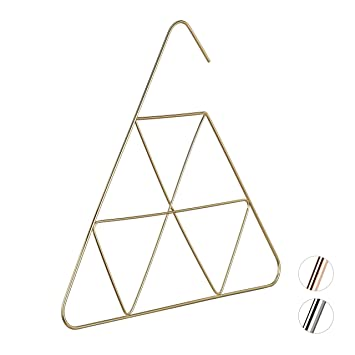 Schalhalter Tuch Accessoires Schal Metall Relaxdays Kleiderb/ügel gold 3 mm d/ünn B/ügel f/ür Bluse edles Design