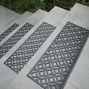 Amazon.com: Rubber-Cal Azteca Indoor Outdoor Stair Treads Rubber ...