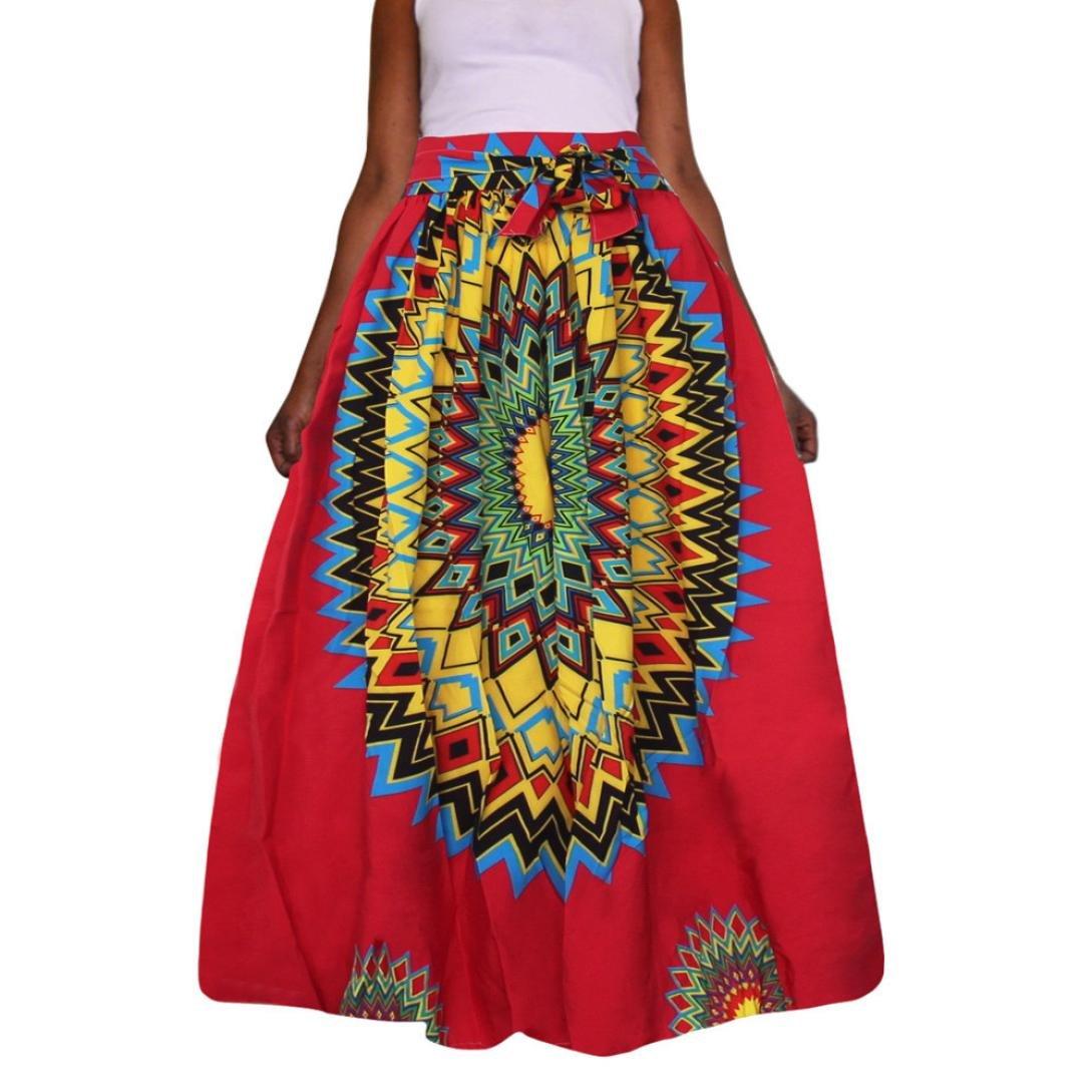 Caliente. yanhoo mujeres Summer Dashiki impresora vestido Tela de ...