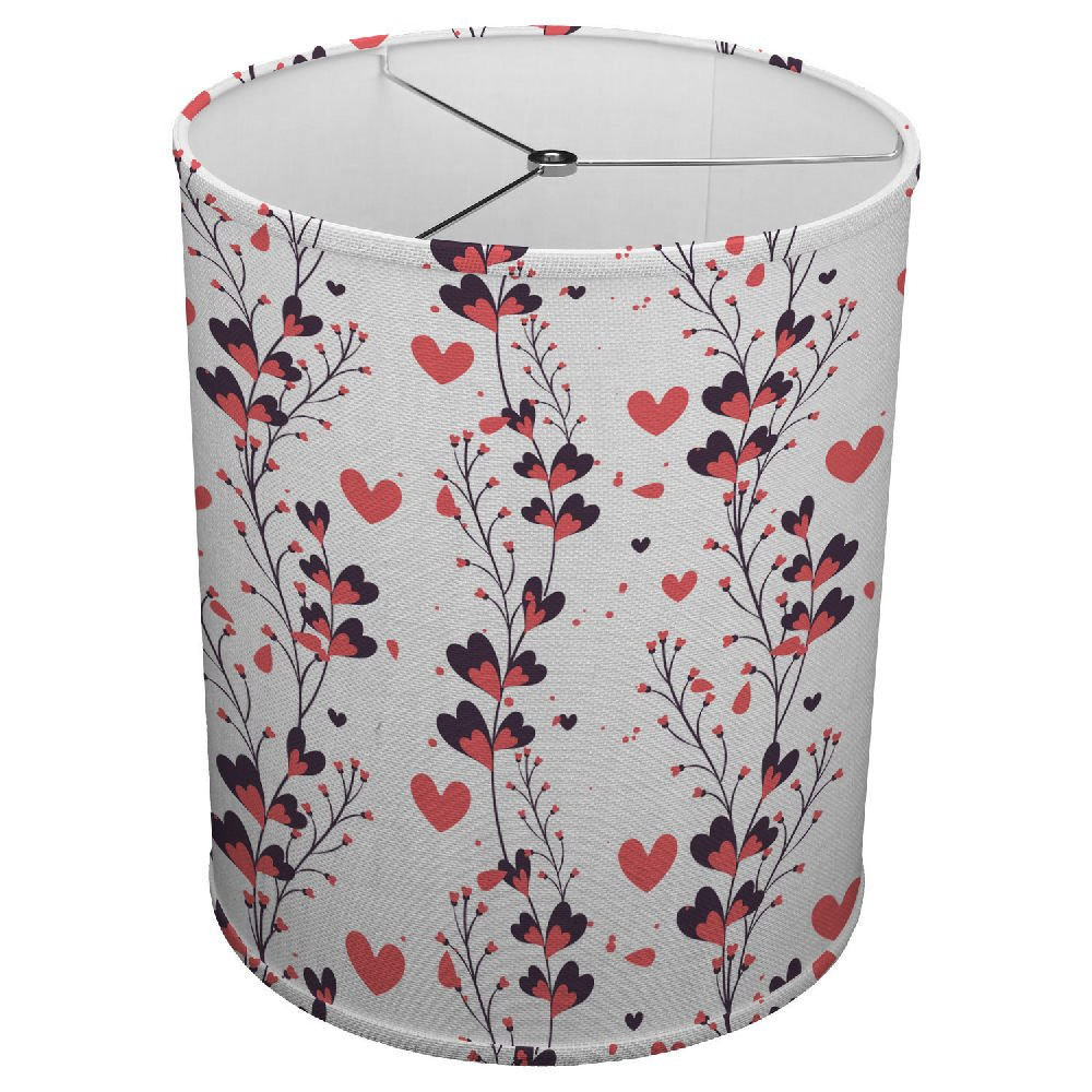 Hardback Linen Drum Cylinder Lamp Shade 8'' x 8'' x 8'' Spider Construction [ I Love Flowers ]
