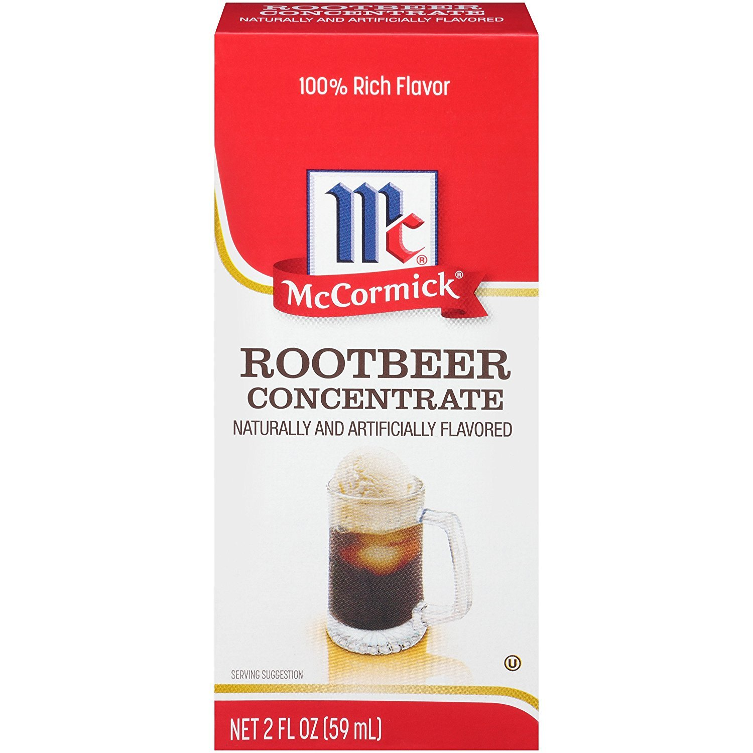 McCormick Natural & Artificial Flavored Root Beer Concentrate, 2 fl oz (Pack - 6) by McCormick