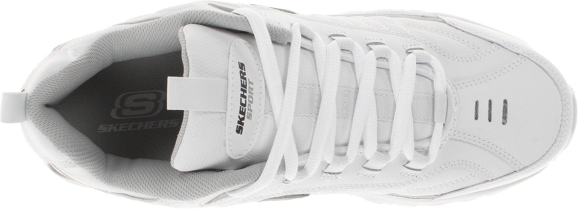 Skechers Men's Energy Afterburn Lace-Up Sneaker,White,8 M US by Skechers (Image #7)