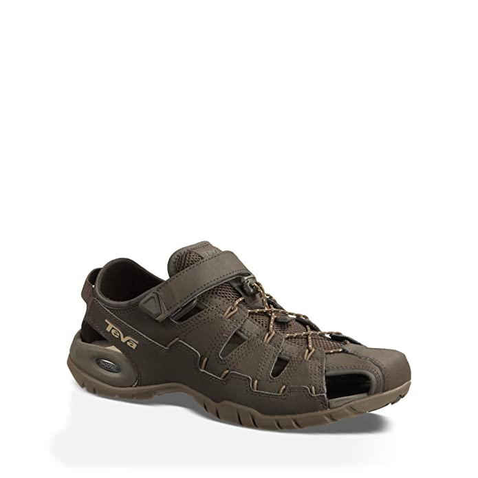 addf55a47 Teva Men s Dozer 4 Hybrid Outdoor Shoe Black Olive 11.5 D(M) US  Amazon.in   Shoes   Handbags