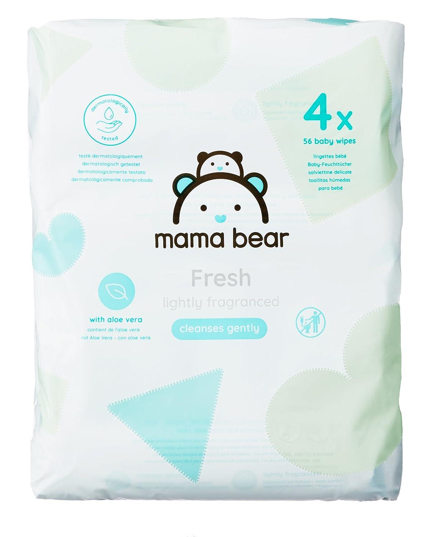 Mama Bear Fresh Toallitas Húmedas para Bebé - 4 Paquetes (224 Toallitas): Amazon.es: Amazon Pantry
