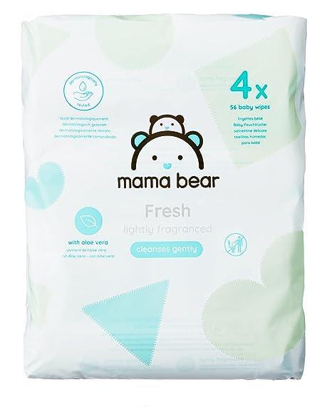Mama Bear Fresh Toallitas Húmedas para Bebé - 4 Paquetes (224 Toallitas)