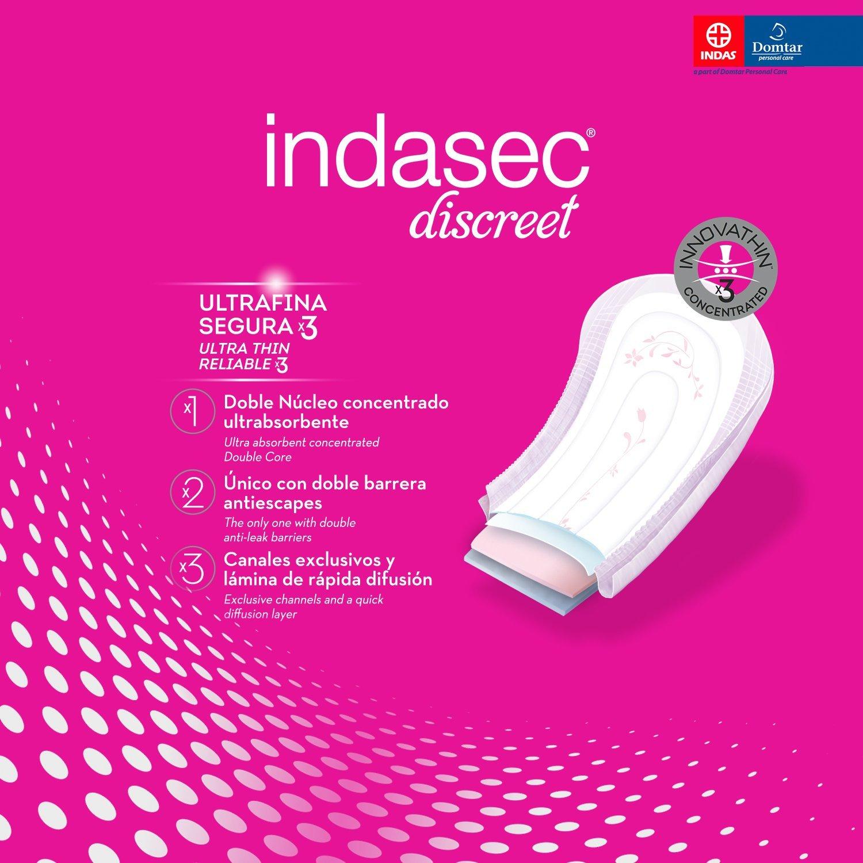 Indasec Discreet - Compresa para Pérdidas Leves Extra - 10 Unidades: Amazon.es: Amazon Pantry
