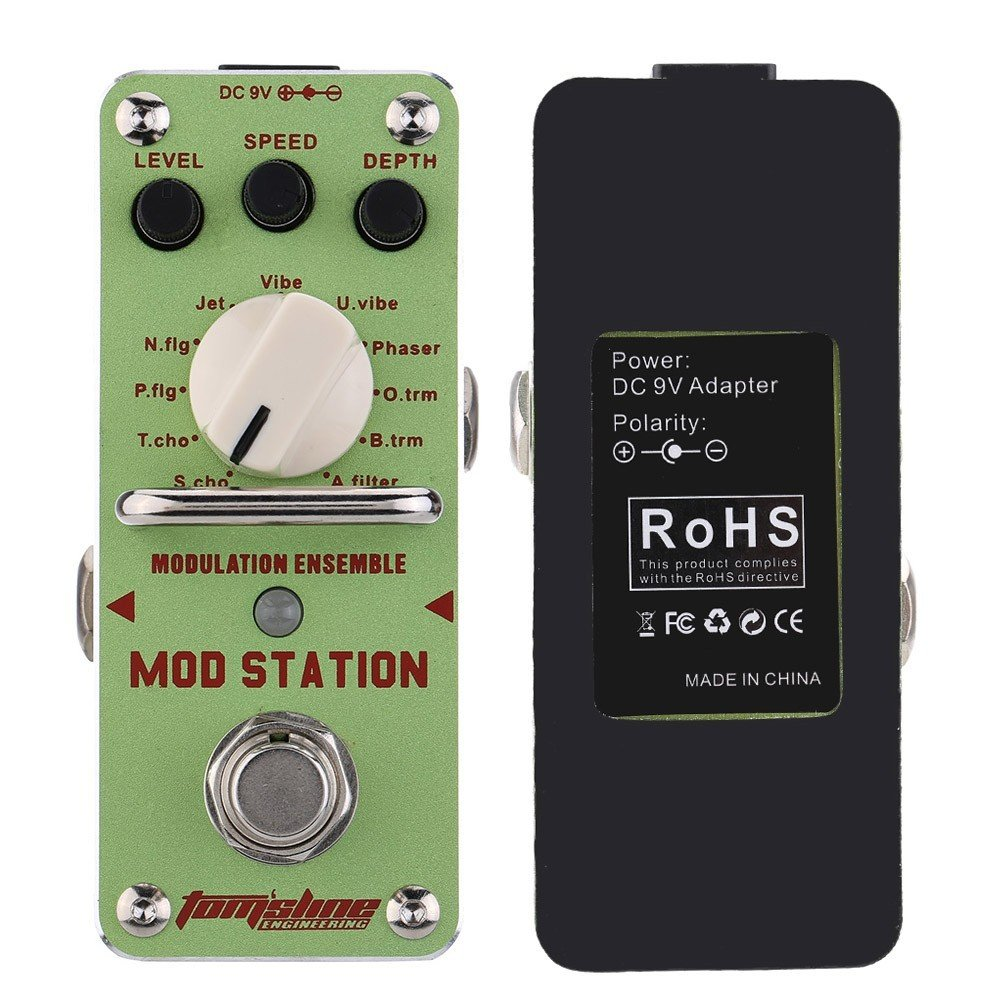 AROMA AMS-3 MOD STATION 11 Classic Modulation Mini Digital guitar Effect Pedal by Aroma