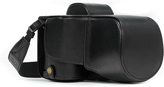 28-70mm A7R II A7 II MegaGear Ever Ready Leather Camera Case compatible with Sony Alpha A7S II