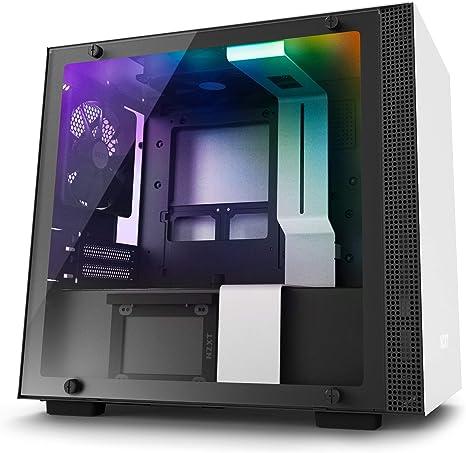 NZXT H200i - Caja PC Gaming Mini-ITX - Panel de vidrio templado - Preparado para refrigeración líquida - Blanco/Negro - Versión 2018: Amazon.es: Informática