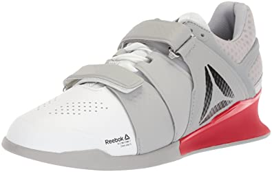 43129d4b0a9c Reebok Men s Legacy Lifter Sneaker White Stark Grey Primal red 8.5 ...