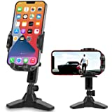 leQuiven Cell Phone Stand for Desk, Universal Desktop Phone Mount Compatible with iPhone 12 Samsung Galaxy S21 S20, Heavy Dut