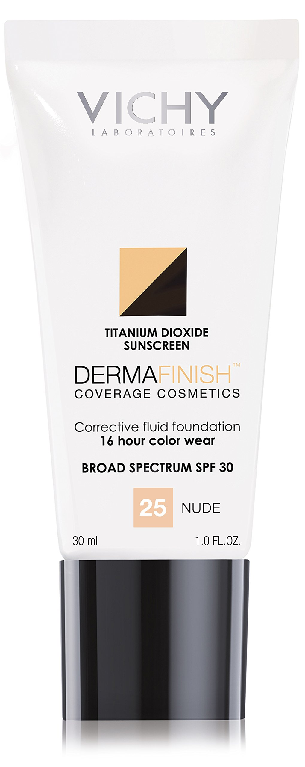 Vichy Dermafinish Liquid Foundation with SPF 30, 25 Nude, 1 Fl. Oz.