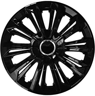 Centurion Extra Strong Lacquered Black Wheel Trim 15/Inches Set of 4