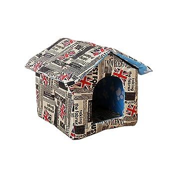 Aurantiaco - Cama de iglú para Mascotas, Impermeable, Suave y Plegable: Amazon.es: Productos para mascotas