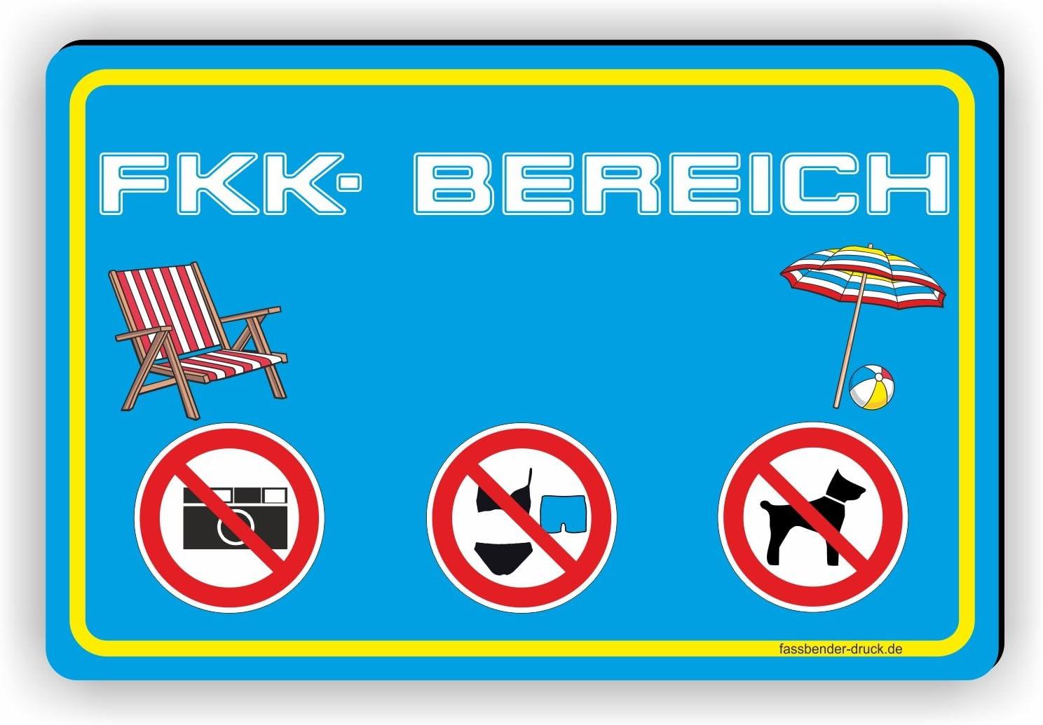 D-064 FKK Bereich Freik/örperkultur SCHILD 30x20cm Schild FKK Strand