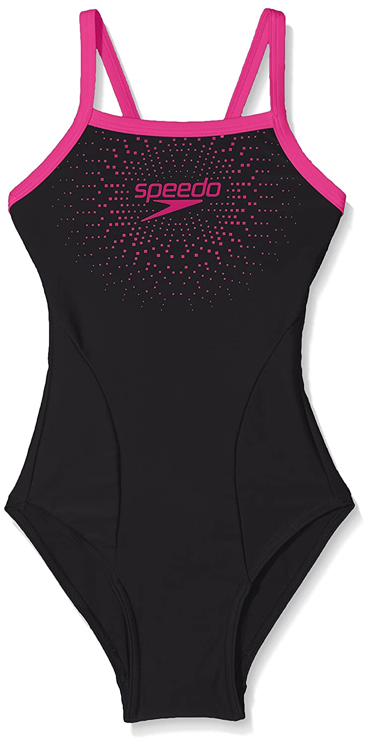 Speedo Girl Kids Gala Logo Thin Strap Muscle Back Swimsuit