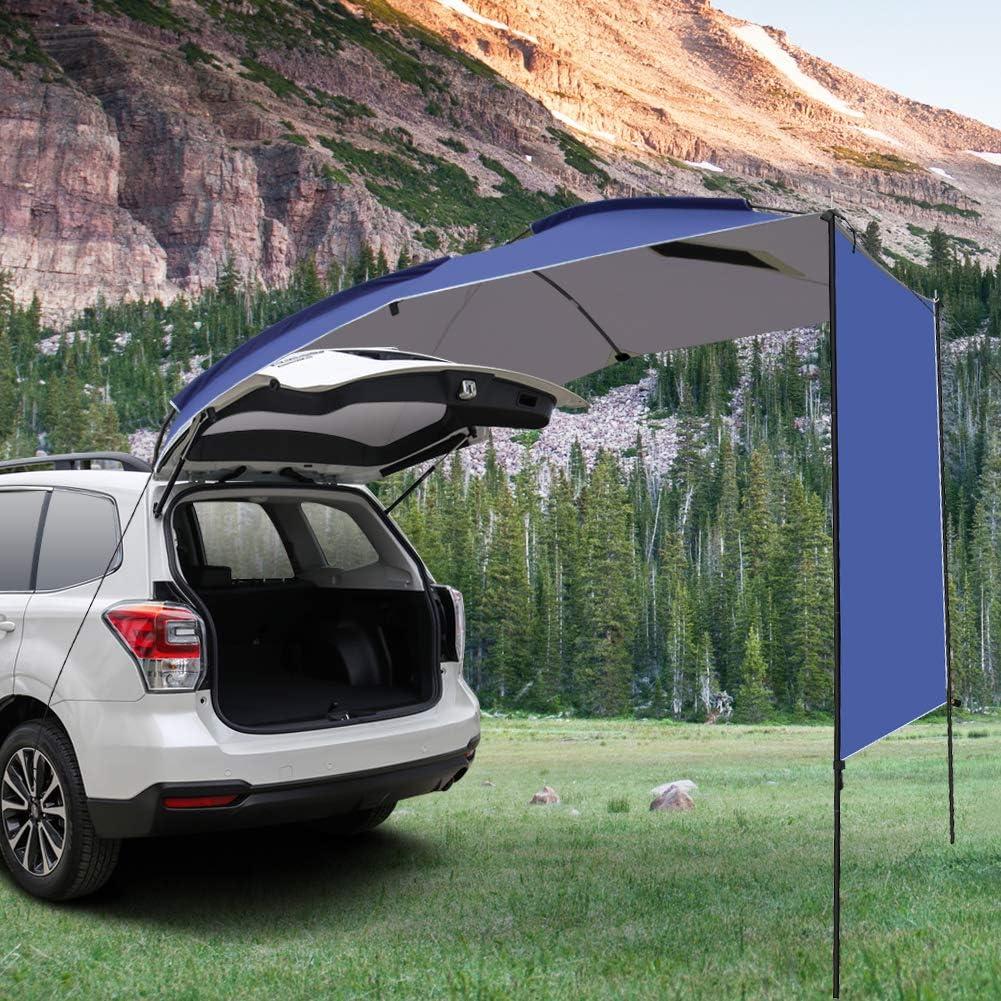 Minivan Hatchback al aire libre para SUV camping ligero Blentude impermeable Sedan MPV Toldo de toldo para caravana o caravana
