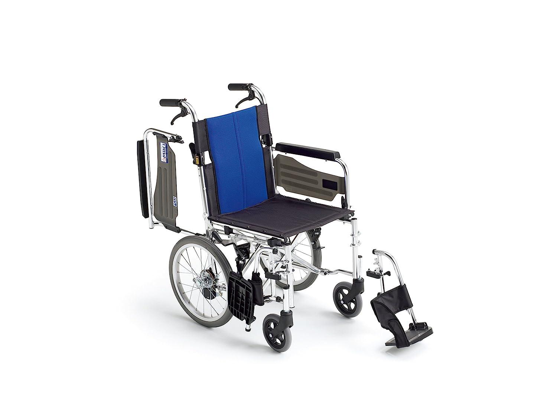 ミキ BAL-4 多機能型 介助型車いす ブルー 40 B01FBGZDGS