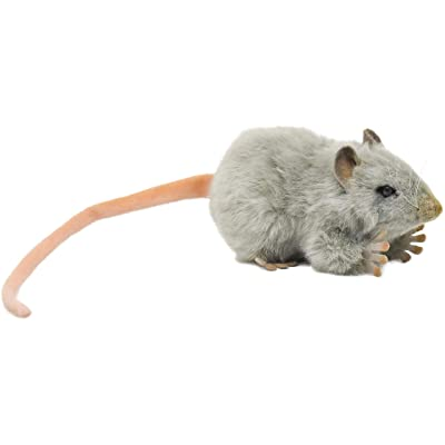 HANSA Mouse Plush, Gray: Toys & Games