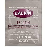 Lalvin Sparkling Wine Yeast EC-1118 Sachet 5g - Ideal for making Cider and Champagne style wines by Lalvin