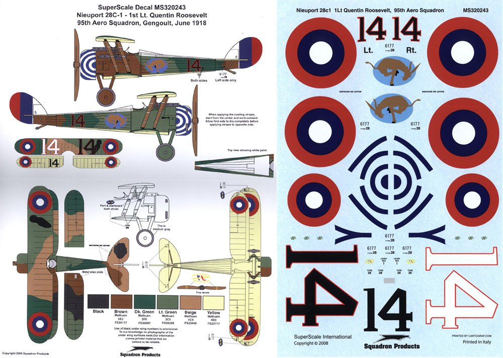 Superscale USA Nieuport 28 C.1 Decals #2