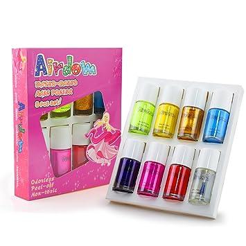 Amazon.com: Nail Polish Kids Set Girl Toys Gifts- Airdom Water Based ...