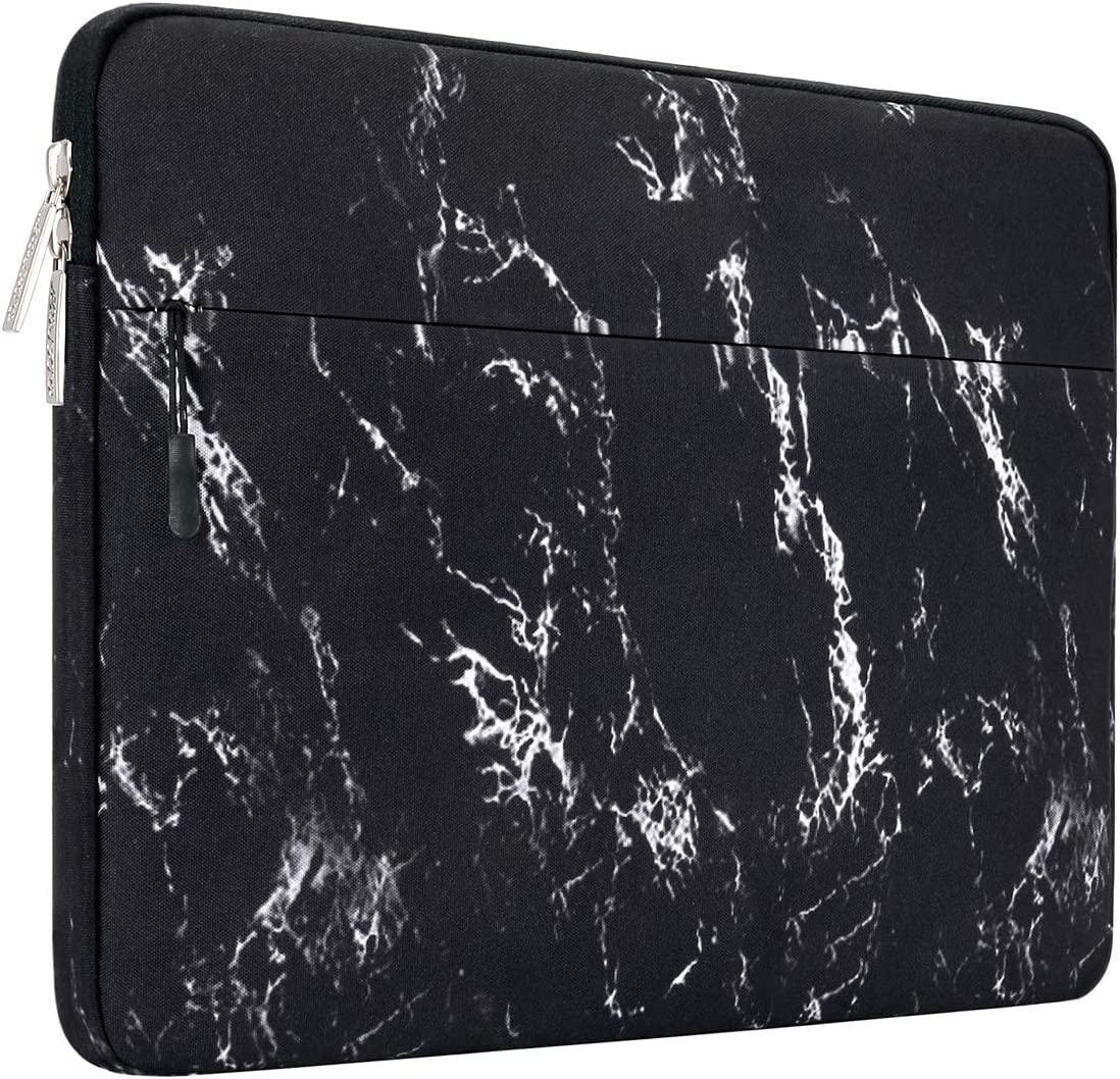 MOSISO Laptop Sleeve Compatible with 13-13.3 inch MacBook Pro, MacBook Air, Notebook Computer, Marble Pattern Carrying Case Bag Cover, Black