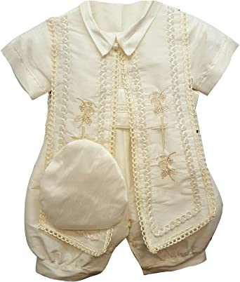 Newdeve Christening Outfits Baby Boy 2 Pieces Toddler Baptism Suits