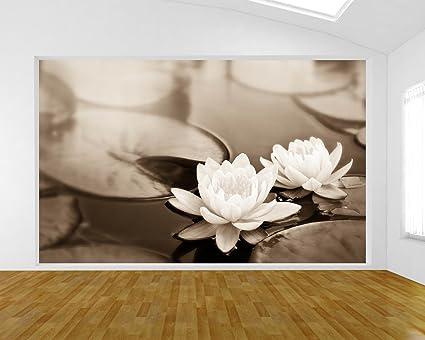 Carta Da Parati Fiori Di Loto : Bilderdepot carta da parati in tnt fiore di loto seppia