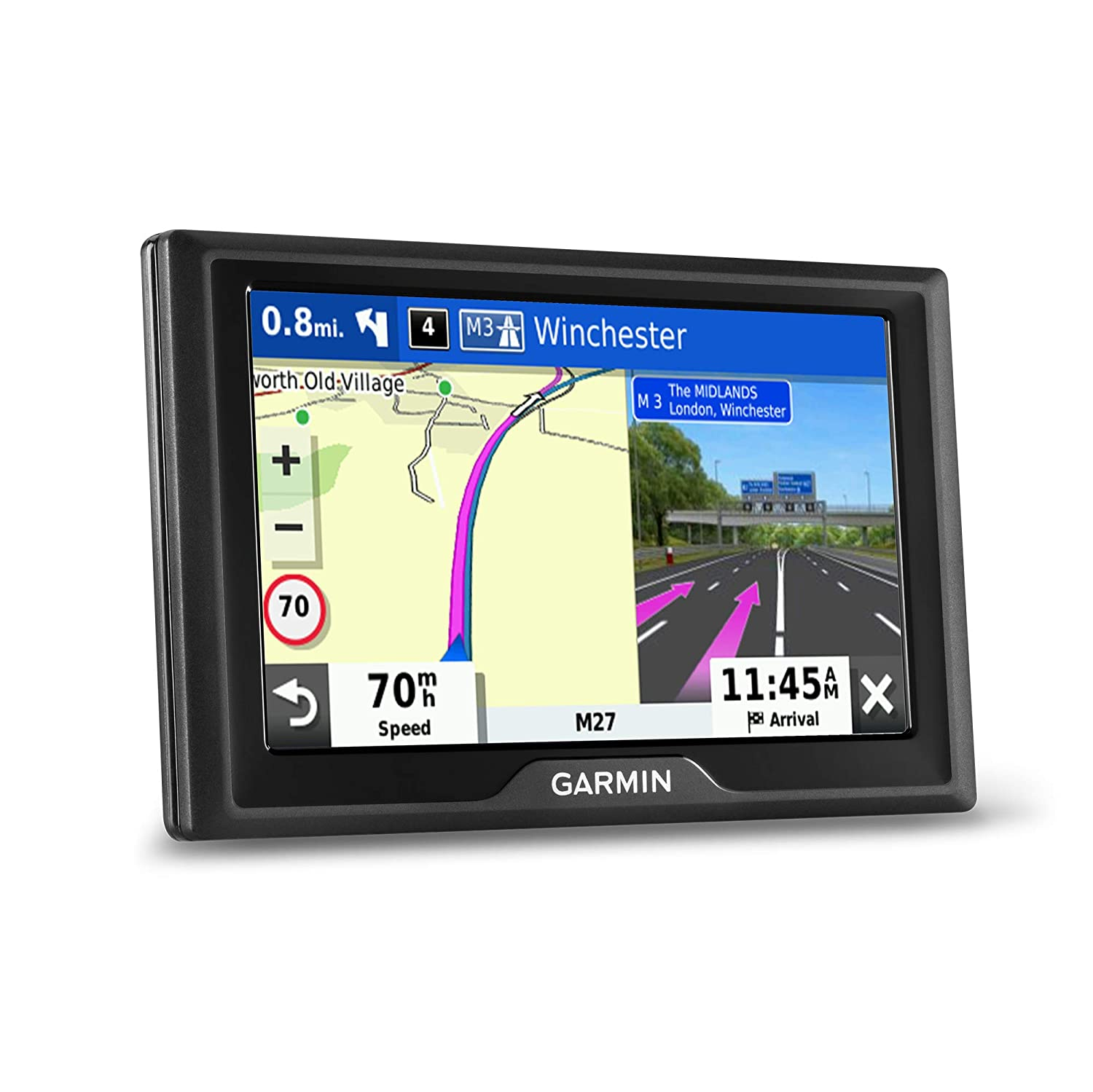 Live Traffic and Speed Camera and Other Driver Alerts Garmin Drive 52 UK MT-S 5 Inch Sat Nav with Map Updates for UK and Ireland