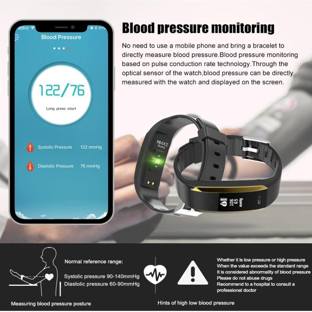 Amazon.com : LtrottedJ Smart Watch Smart Watch Sports, Fitness Activity Heart Rate Tracker Blood Pressure Watch (Black) : Sports & Outdoors