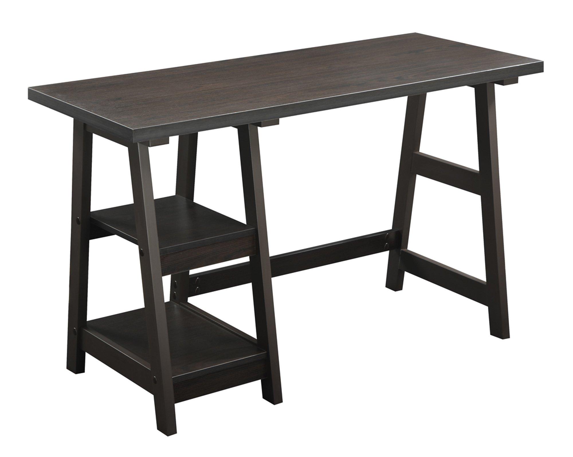Convenience Concepts Designs2Go Trestle Desk, Espresso