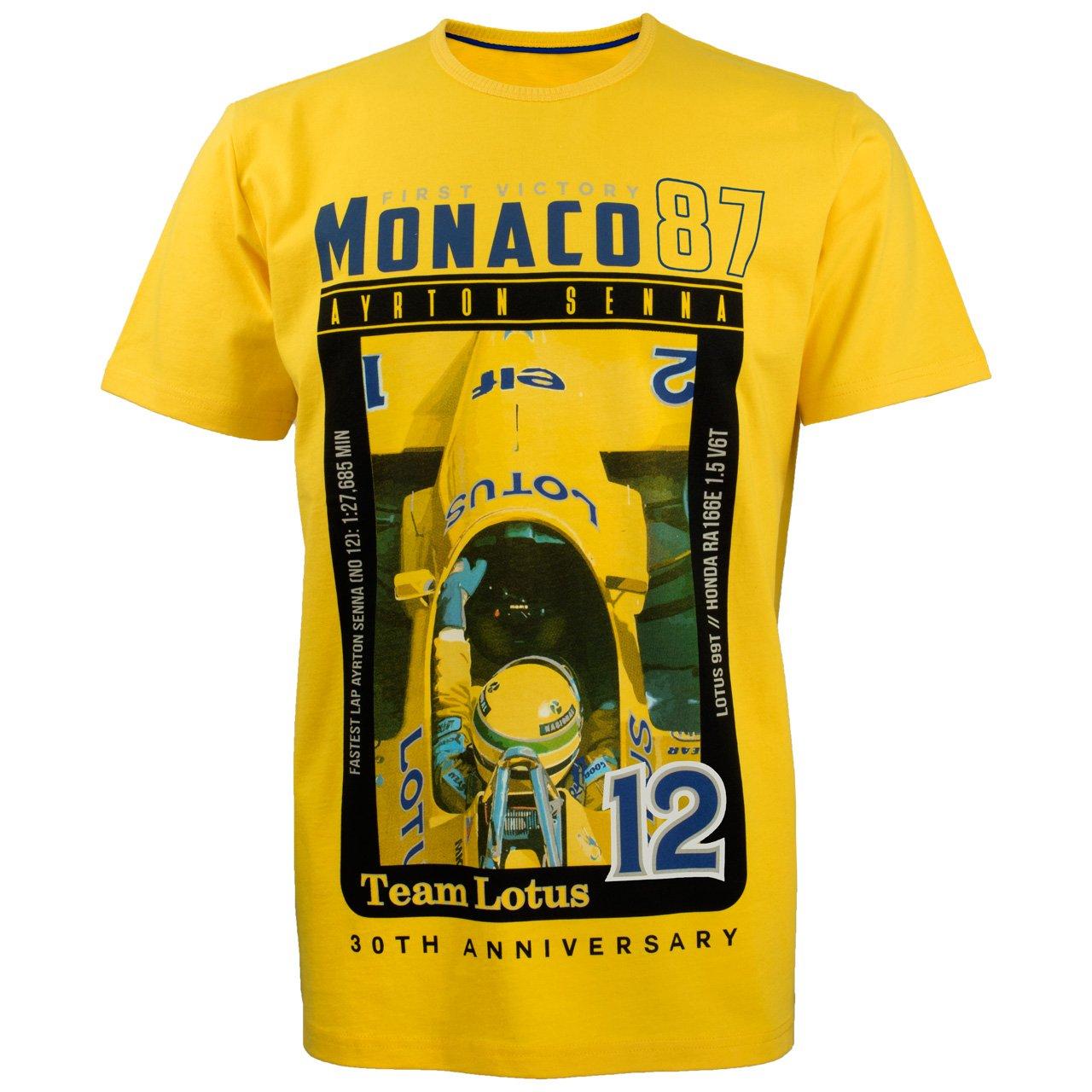 MBA-SPORT Ayrton Senna Lotus Kollektion T-Shirt Monaco 1st Victory 1987 gelb
