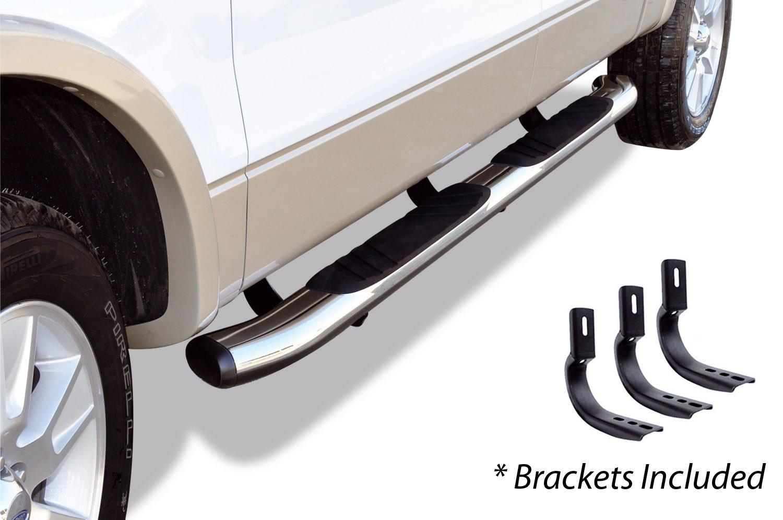 Go Rhino 685439980CC Chrome 5 OE Xtreme Composite Complete Kit Sidesteps + Brackets - Cab length