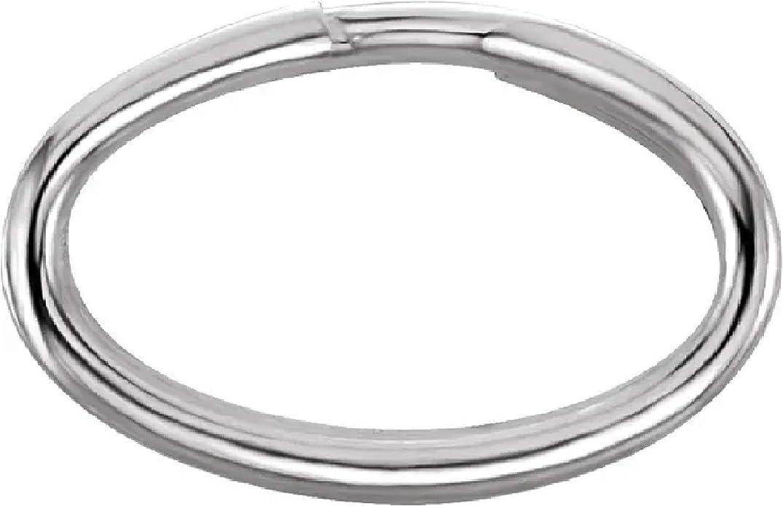 Sterling Silver Split Rings 8mm Round Jewelry Findings