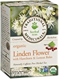 Traditional Medicinals Organic Linden Flower with Hawthorn and Lemon Balm Tea, 16 Tea Bags
