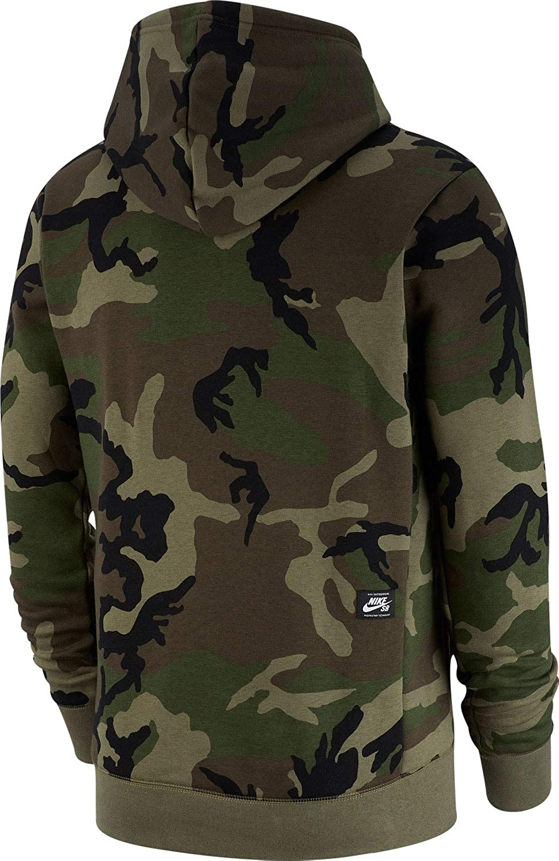 Nike SB Icon Sweatshirt Camo Men Camoflage L: