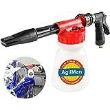 AgiiMan Car Wash Foam Gun - Foam Cannon, Garden Hose Sprayer with Adjustment Ratio Dial Blaster, Auto Detailing Cleaning…