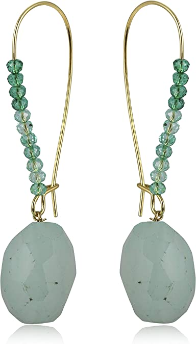 Meera Star Agate Stones Handmade Earrings Indian Fashion