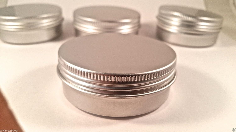 Flat Metal Tin 2oz w/Screwtop (15 Ct) Always 15s2ozt