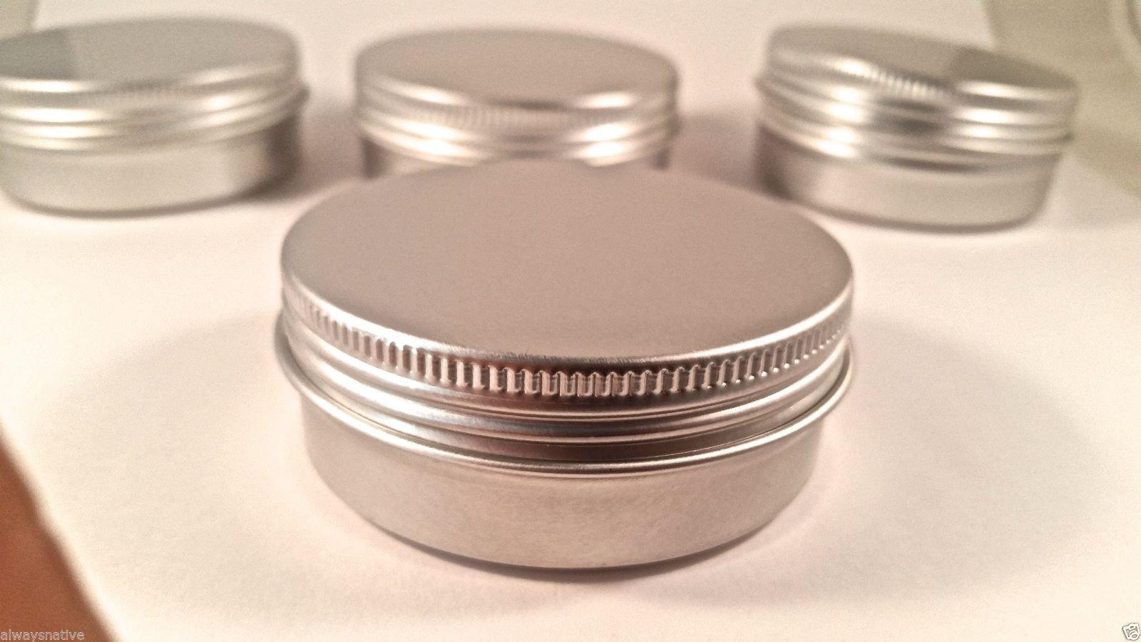 Flat Metal Tin 2oz w/Screwtop (15 Ct)