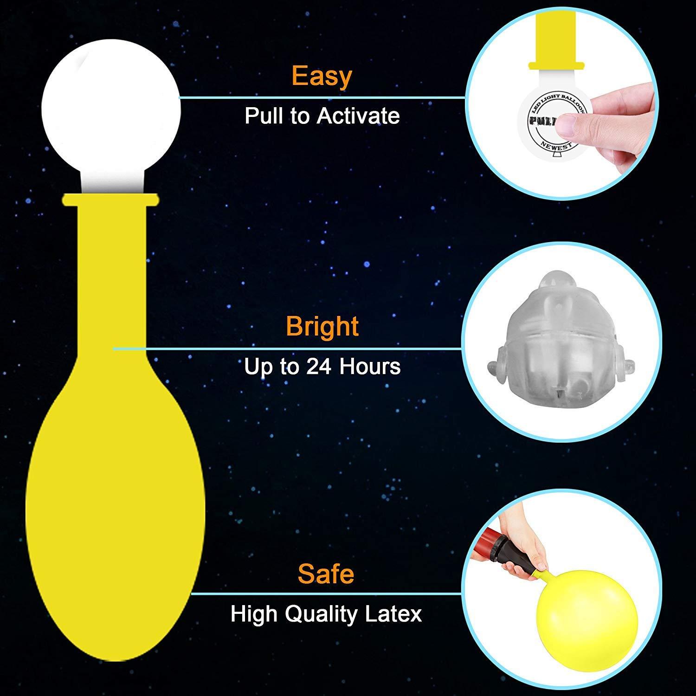 Amazon.com: POKONBOY - Globos LED de luz para fiestas ...