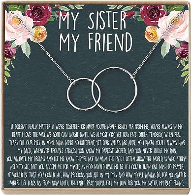 Amazon.com: Collar para hermanas: regalo para hermana ...
