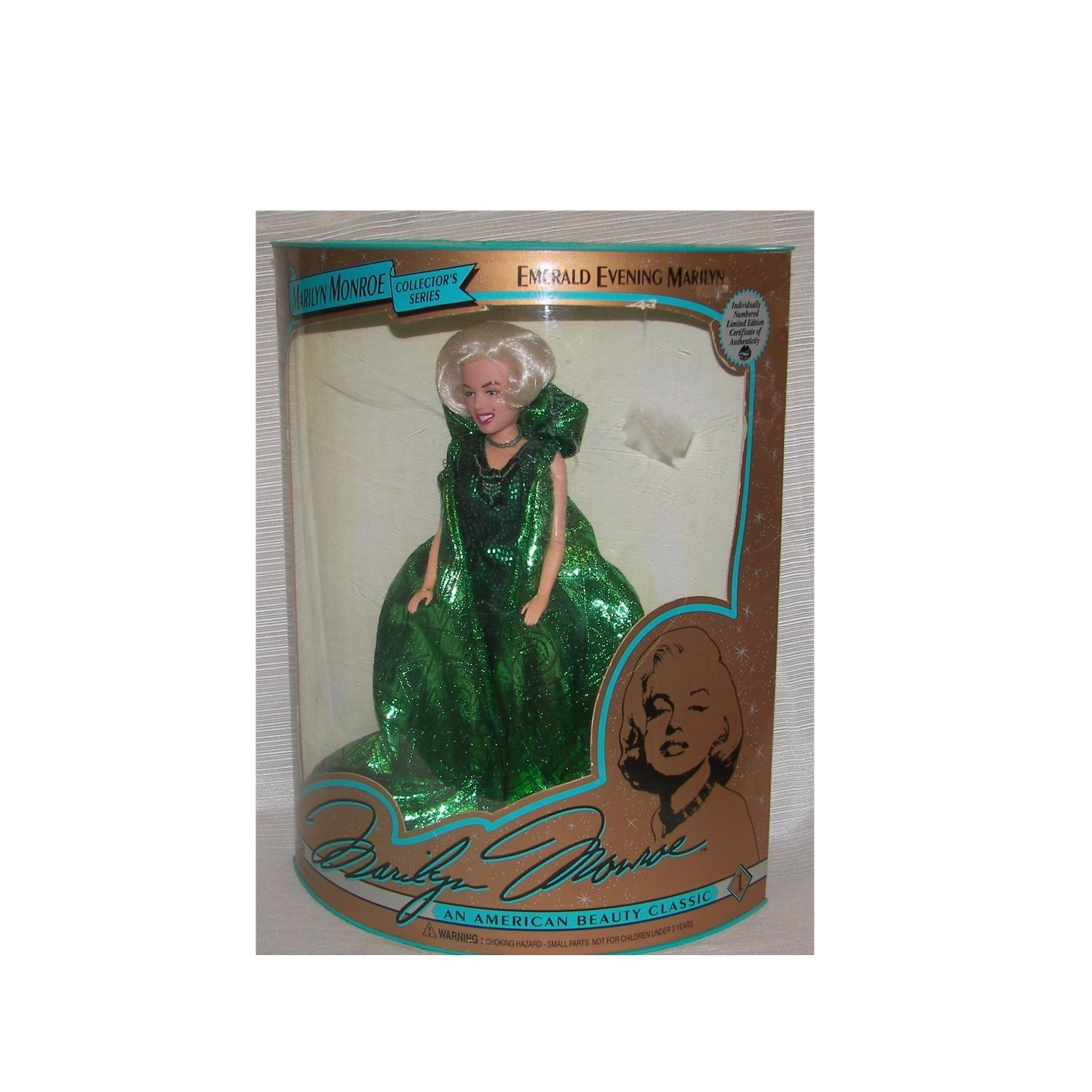 Marilyn Monroe Collectors Series Emerald Evening Gown Doll by DSI